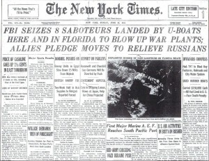 New York Times Front Page: June 28, 1942
