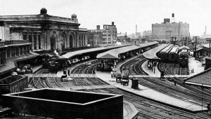 The platforms at Union Station in Albany, NY as they appeared in the 1940's. It was here that my grandfather worked and where he saw his two sons off to the war.  Photo credit: Albany Group Archive