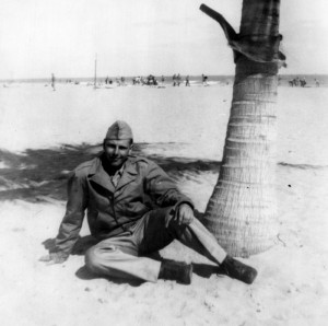 Dad in Miami Beach during a break from Basic Training, February, 1943.