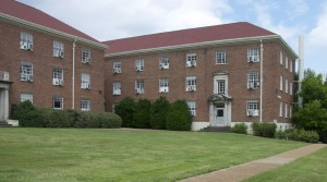 A photo of Garland Hall today.  Originally built in 1938 as part of a New Deal project, it was used in 1943 to house US troops that were undergoing training on the campus of the University of Mississippi in Oxford, MS (photo credit: www.misspreservation.com)