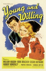 Poster art for the 1943 movie Young and Willing