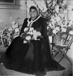 Hattie MacDaniel in a 1941 photograph. She is best known to modern audiences for playing the role of Mammy in 1939's Gone with the Wind.  The Academy Award that she won for that role made her the first ever African American to win an Oscar.