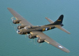 "The Boeing B-17. Known as the ""Flying Fortress"" for the amount of firepower it was able to carry.  Entire books have been dedicated to this plane, so I won't go into much detail here. It's long range combined with it's extensive defensive capabilities resulted in this aircraft taking on mythic proportions. It was not uncommon for badly scarred B-17s to make it back to base after engaging the enemy in battle.  I suspect there will be other opportunities during this project to lean more about this extraordinary aircraft."