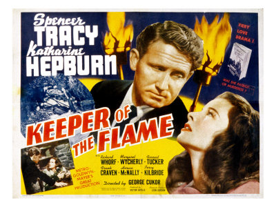 Poster Art for Keeper of the Flame starring Spencer Tracy and Katherine Hepburn