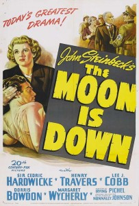 Poster art for the movie The Moon is Down. Image credit: moviepostershop.com