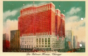Scan of Palmer House Hotel post card