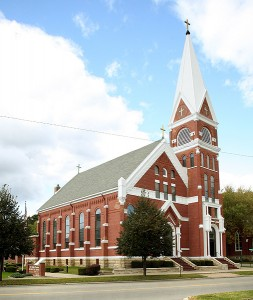 St. John the Baptist Church in Savanna, Illinois. Image credit: Diocese of Rockford
