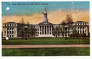 Post Card Image of the Denver Court House