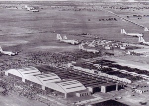 An aerial view of McClellan Field. Shortly after the attack on Pearl Harbor, P-40s, B-26s and B-17s were sent to McClellan to be outfitted for overseas deployment. Throughout the Cold War, McClellan was an installation of the Air Force Logistics Command (AFLC) and later the Air Force Materiel Command (AFMC). Throughout the 1980s and early 1990s, McClellan functioned as the main depot for overhauling the Air Force's F-111, FB-111 and EF-111 aircraft, as well as the A-10 Thunderbolt II aircraft. The base was closed by the Air Force on July 13, 2001.