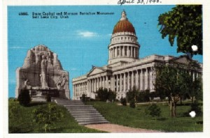 Post Card image of the Capitol Building in Salt Lake City.