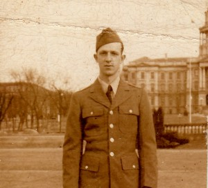 Stanley Murawski c Dec.1942- Jan. 1943 Taken in front of the Colorado State House in Denver while stationed at Ft. Logan.