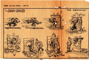 A Sad Sack Cartoon that was included in one of Dad's letters home during May of 1943.
