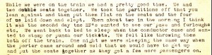 "Stanley describes how he managed to sleep on a three day train journey from Ephrata Army Air Base in Washington State to Albany. Click on the above image to see a full size scan of the excerpt, then click the ""back"" button of your browser to return to the post."