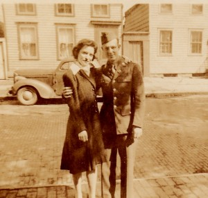 Stanley and his sister Anna taken while Stanley was home on furlough in May of 1943.