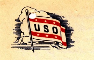 Image from the note paper provided at the USO club in Salina, Kansas.