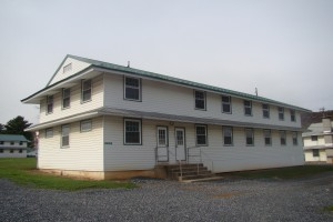 A typical WWII era two-story barracks building. Image credit: U.S. Army