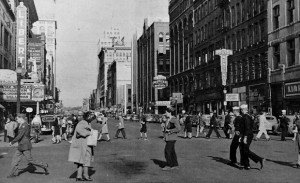 Downtown Spokane  during the war years. Image credit: www.thespokesman.com