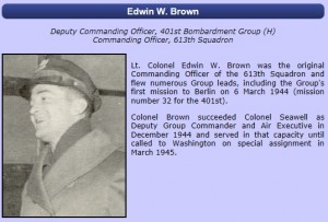 A brief bio and photo of Edwin Brown from the 401bg.org website. Click on the picture above for a full size image.
