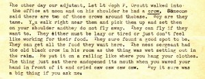 In his letter of June 18, 1943, Stanley writes to his brother and tells him about some of the local wildlife.