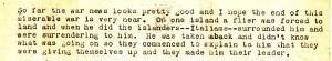 Excerpt from Anna's letter to Dad dated June 18, 1943 detailing news about Italian citizens surrendering to a downed American pilot during WWII.