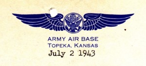 Letterhead from Topeka Army Air Base.