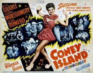 Lobby Card for the 1943 movie Coney Island starring Betty Grable.