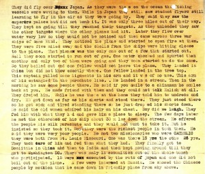 The second half of Stanley's account of a lecture given by one of the Doolittle Raiders about the historic Tokyo Raid.