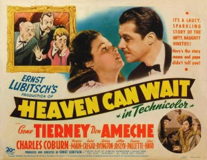 Poster art for the 1943 film Heaven Can Wait