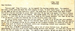 An excerpt from my Uncle Stanley's VE Day letter to Dad. You can follow the link below to view the entire letter.