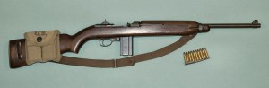 "Photo of a WWII era M1 Carbine. ""You get 15 shots to 5 of Eddie's"". Image credit: www.wikipedia.com"