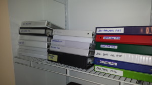 All of the letters have been scanned and placed in acid free page protectors, secured in binders and stashed in a closet where they won't be exposed to ambient light.