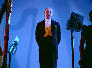 Deems Taylor as the Master of Ceremonies in the 1940 Disney film Fantasia. Image copyright: Walt Disney Co., Inc.