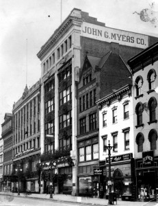 Photo of John  G. Myers department store on N. Pearl Street, Albany c.1933. Image credit: www.timesunion.com