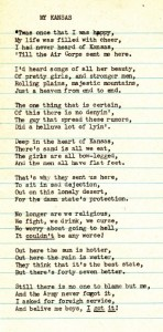 Unattributed poem about what it was like to be stationed at Topeka Army Air Base during WWII