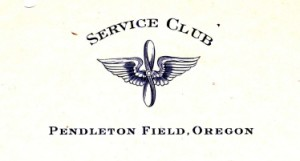 The letterhead from Pendleton Field on which Joe Damusis writes his November 9, 1943 letter.