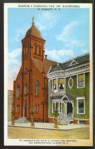 St. Casimir's Church at 320 Sheridan Avenue, one block over from the family's home at 382 Orange Avenue in Albany. The parish is no longer occupies the building but the church is still standing. Image Credit: Albany Group Archive on Flickr.
