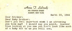 """The letterhead  stationery that Eddie got for Anna.  of it she writes """"In the future I will write a few letters with my name on to look important."""""""