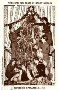 "A 1943 Combined Operations Christmas Post Card that Stanley Sent to Dad from ""Somewhere in England""."