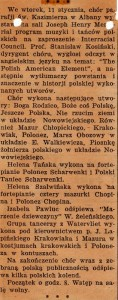 Clipping from a Polish Newspaper about the program at the Interracial Council