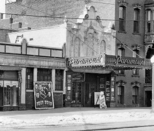 The Paramount Theater, 378 Clinton Ave., Albany NY c1938. Photo Credit Pruyn Room, Albany Public Library