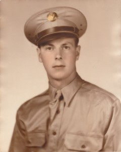Dad's formal portrait which was taken early in his service.