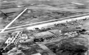 An aerial view of Great Bend Army Air Field c 1943
