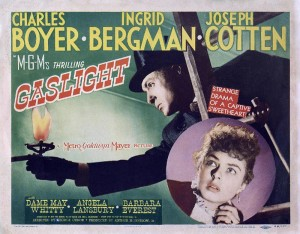 Poster art for the 1944 MGM movie Gaslight.