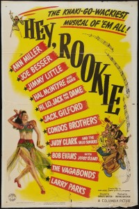 Poster art for the 1944 movie Hey, Rookie. Image credit: www.heritageauctions.com