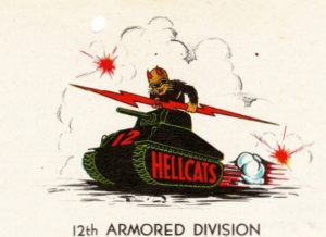 12th Armored Division letterhead from Vincent Morawski's letter dated July 18, 1944.