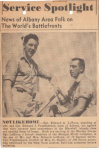 Undated Newspaper clipping c. August 1944