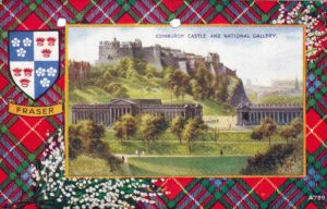 Image of Edinburgh Castle from a postcard sent to Dad from Stanley.