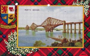 Image of the Forth Bridge from a postcard that Uncle Stanely sent to Dad.