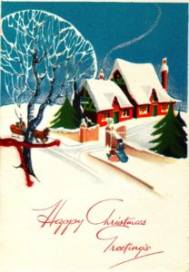 Cover of Christmas Card sent to Dad by Stanley in 1944.