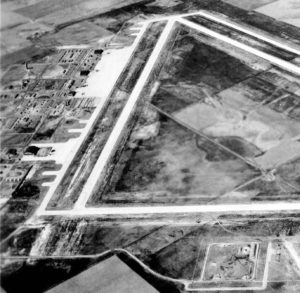 Aerial View of McCook Army Air Field in 1944. Public Domain Photo Credit: United States Army Air Force via National Archives